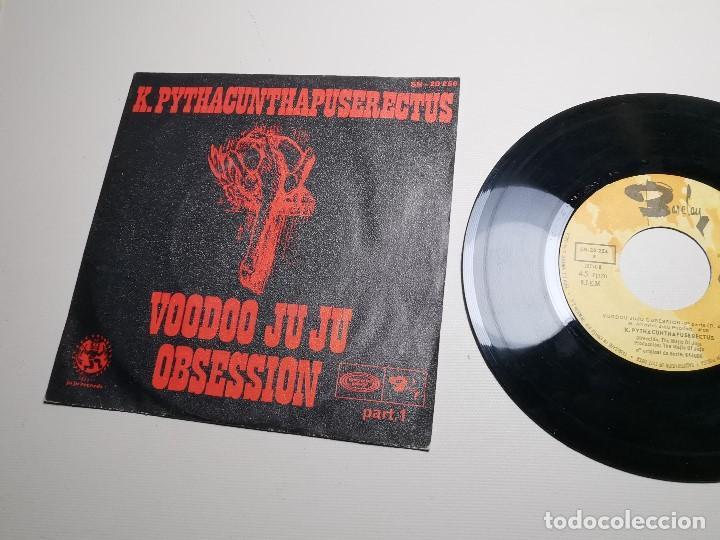 Discos de vinilo: K. Pythacunthapuserectus. Voodoo Ju Ju Obsesion. Movieplay-Barclay, Esp. 1969 single - Foto 3 - 197483542