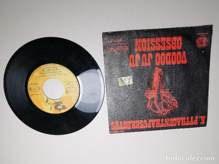 Discos de vinilo: K. Pythacunthapuserectus. Voodoo Ju Ju Obsesion. Movieplay-Barclay, Esp. 1969 single - Foto 7 - 197483542