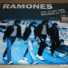 Discos de vinilo: V531 - RAMONES. LIVE IN NEW YORK NOVEMBER 14TH 1977. LP VINILO NUEVO PRECINTADO. Lote 197493030