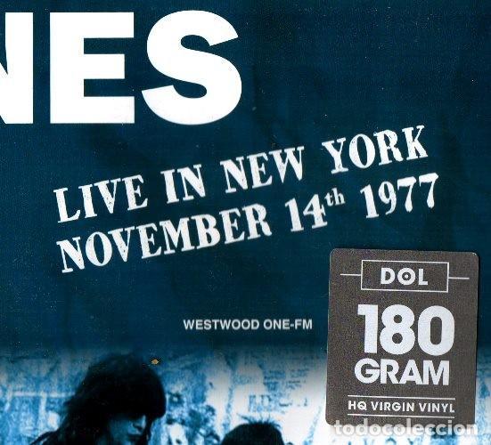 Discos de vinilo: V531 - RAMONES. LIVE IN NEW YORK NOVEMBER 14TH 1977. LP VINILO NUEVO PRECINTADO - Foto 2 - 197493030