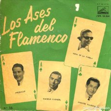 Disques de vinyle: LOS ASES DEL FLAMENCO Nº 16 (VARIOS) EP 1960 1ª EDICION . Lote 197501228