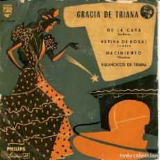 Discos de vinilo: GRACIA DE TRIANA / DE LA CAVA + 3 (EP 1957). Lote 197515243