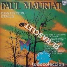 Discos de vinilo: MAGNIFICO LP - PAUL MAURIAT - DANS LES YEUX D' EMILIE. Lote 197521096