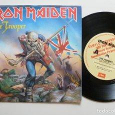 Discos de vinilo: IRON MAIDEN THE TROOPER 45 ORIGINAL 1983 AUSTRALIA PROMO SAMPLER DEMO MEGA RARO ! . Lote 197529923