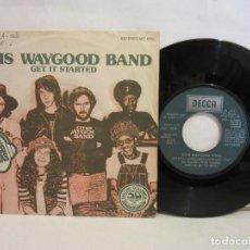 Discos de vinilo: OTIS WAYGOOD BAND - GET IT STARTED - SINGLE - 1977 - SPAIN - VG+/VG. Lote 197532510