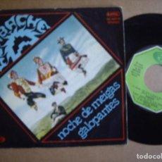 Disques de vinyle: AZABACHE SG 7'' NOCHE DE MEIGAS GALOPANTES MOVIDA RARO MOVIEPLAY 1979 EX- / EX. Lote 197540580