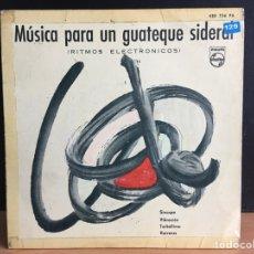 Discos de vinilo: TOM DISSEVELT - MÚSICA PARA UN GUATEQUE SIDERAL (RITMOS ELECTRÓNICOS) (EP, MONO) (PHILIPS (D:NM). Lote 197548045