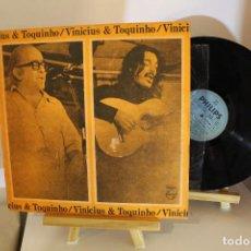 Discos de vinilo: VINICIUS DE MORAES - TOQUINHO - VINILO ARGENTINO - EXC ESTADO. Lote 197548213