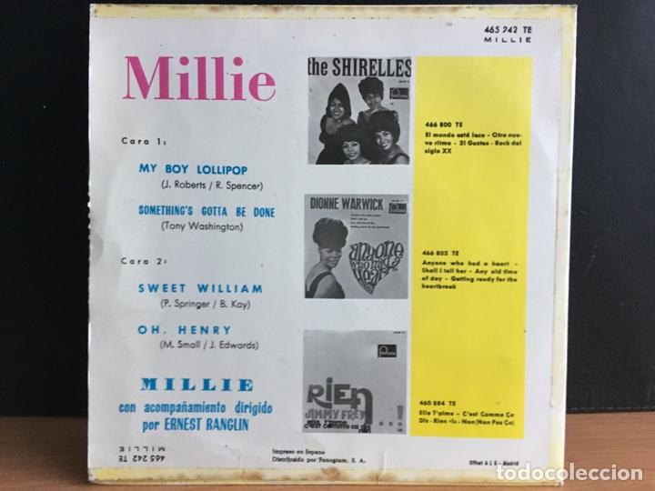 """Discos de vinilo: Millie - My Boy Lollipop (7"""", EP) (Fontana) 465.242 TE (D:NM) - Foto 2 - 197552365"""