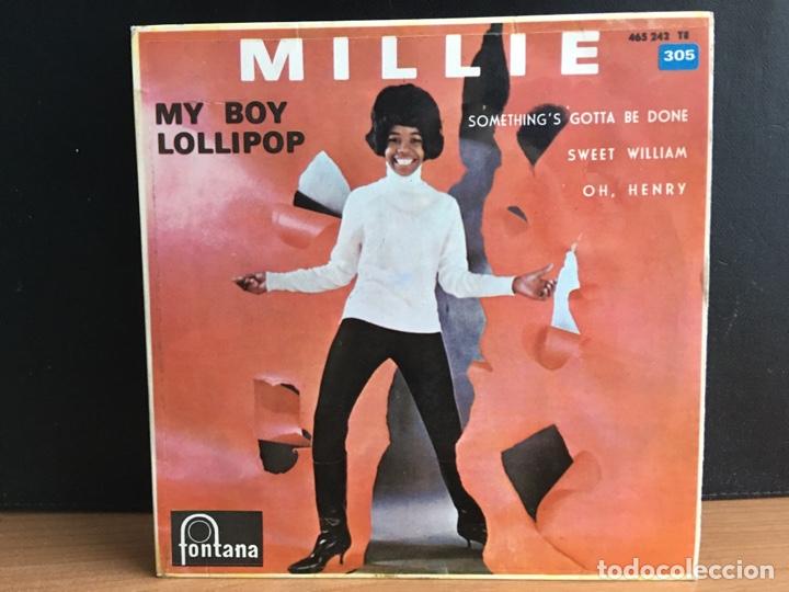 MILLIE - MY BOY LOLLIPOP (EP) (FONTANA) 465.242 TE (D:NM) (Música - Discos de Vinilo - EPs - Reggae - Ska)