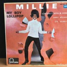 Discos de vinilo: MILLIE - MY BOY LOLLIPOP (EP) (FONTANA) 465.242 TE (D:NM). Lote 197552365