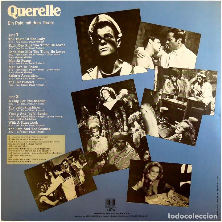 Discos de vinilo: Peer Raben – BSO De La Película Querelle -Ein Pakt Mit Dem Teufel- Lp Spain 1982 - DB Belter  - Foto 2 - 197578598