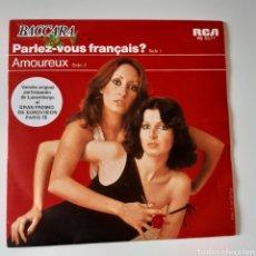 Disques de vinyle: BACCARA, PARLEZ-VOUS FRANÇAIS? / AMOUREUX. RCA PB 5577. EUROVISIÓN 1978.. Lote 197600170