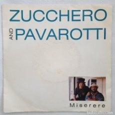Discos de vinilo: SINGLE / ZUCCHERO AND PAVAROTTI / MISERERE - ANYTIME / LONDON RECORDS ALEMANIA 1992. Lote 197602008