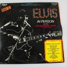 Discos de vinilo: ELVIS IN PERSON AT THE INTERNATIONAL HOTEL. LAS VEGAS, NEVADA. 1970. DOBLE LP.. Lote 197609206