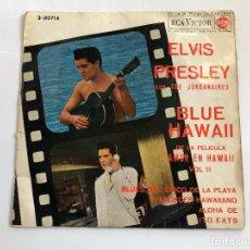 Discos de vinilo: EP ELVIS PRESLEY BANDA SONORA PELICULA BLUE HAWAII EDITADO EN ESPAÑA 1963. Lote 197649178
