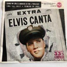 Dischi in vinile: EP ELVIS PRESLEY EXTRA ELVIS CANTA CUATRO TEMAS EN 33 RPM EDITADO EN ESPAÑA 1959. Lote 197649498