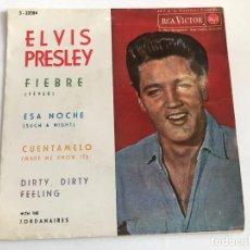 Discos de vinilo: EP ELVIS PRESLEY FEVER/SUCH A NIGHT/MAKE ME KNOW IT/ DIRTY DIRTY FEELING EDITADO EN ESPAÑA . Lote 197649811