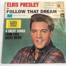 Discos de vinilo: EP ELVIS PRESLEY BANDA SONORA FOLLOW THAT DREAM 4 TITULOS DE LA MISMA EDITADO EN ESPAÑA 1962. Lote 197650121