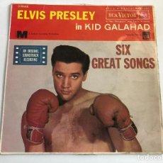 Discos de vinilo: EP ELVIS PRESLEY BANDA SONORA KID GALAHAD 6 TITULOS DE LA MISMA EDITADO EN ESPAÑA 1962. Lote 197650562