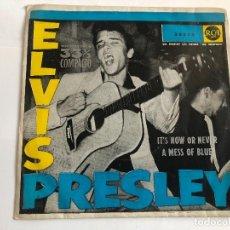 Discos de vinilo: EP ELVIS PRESLEY IT'S NOW OR NEVER / A MESS OF BLUE 7 PULGADAS 33 RPM EDITADO EN ESPAÑA. Lote 197651710