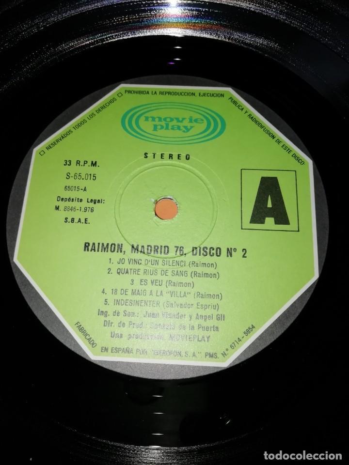 Discos de vinilo: RAIMON. EL RECITAL DE MADRID. DOBLE LP . MOVIEPLAY RECORDS 1976 - Foto 12 - 197651781