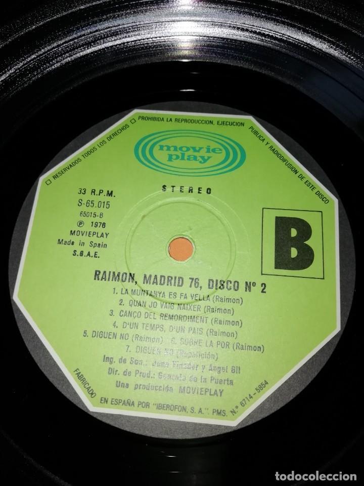 Discos de vinilo: RAIMON. EL RECITAL DE MADRID. DOBLE LP . MOVIEPLAY RECORDS 1976 - Foto 14 - 197651781