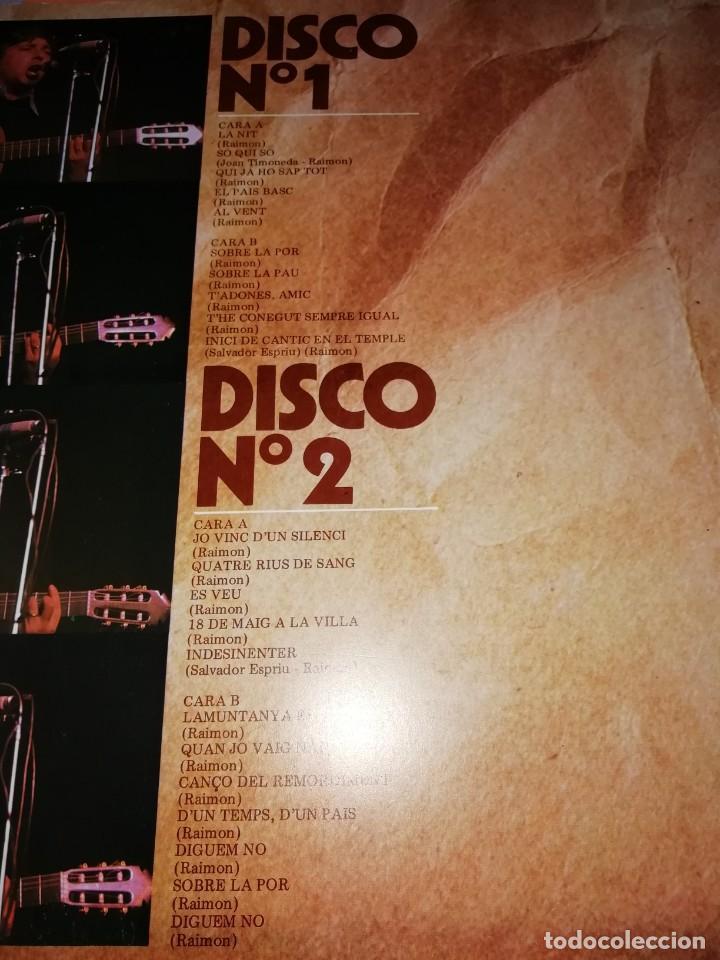 Discos de vinilo: RAIMON. EL RECITAL DE MADRID. DOBLE LP . MOVIEPLAY RECORDS 1976 - Foto 5 - 197651781