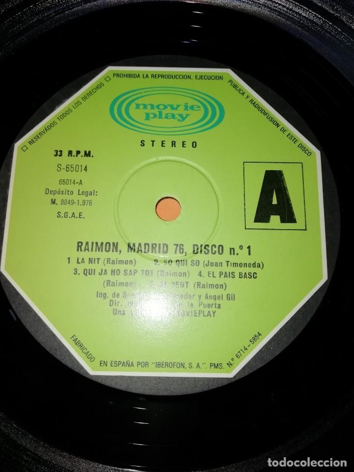 Discos de vinilo: RAIMON. EL RECITAL DE MADRID. DOBLE LP . MOVIEPLAY RECORDS 1976 - Foto 8 - 197651781