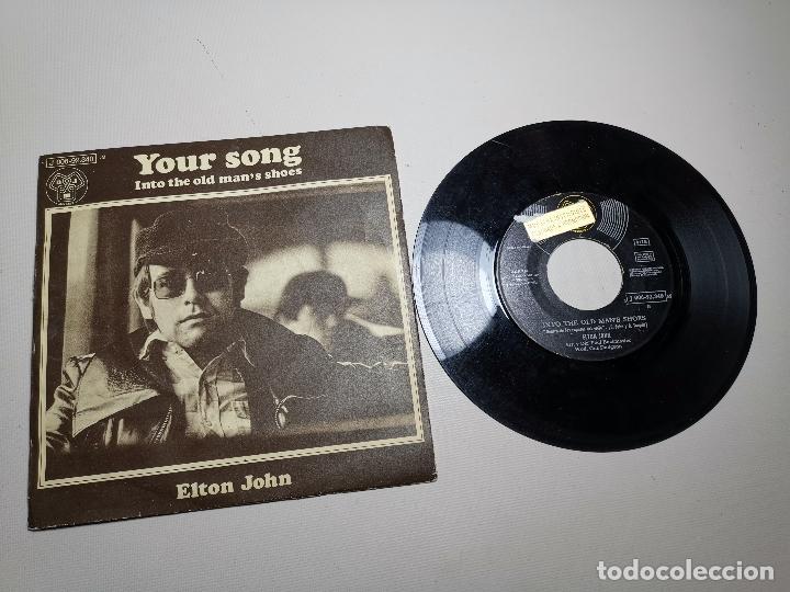ELTON JOHN - YOUR SONG, SELLO DJM RECORDS, 1971, J 006-92.340 M, DISCO PROMOCION (Música - Discos de Vinilo - EPs - Pop - Rock Extranjero de los 70)
