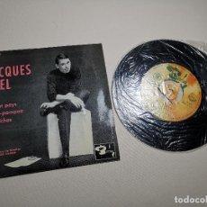 Discos de vinilo: JACQUES BREL / LE PLAT PAYS / CASSE POMPON / LES BICHES (EP FRANCES) 1962. Lote 197655305