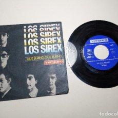 Discos de vinilo: LOS SIREX - QUE BUENO QUE BUENO / CHAO CHAO (DOWN TOWN) VERGARA 45.087-A. Lote 197657893