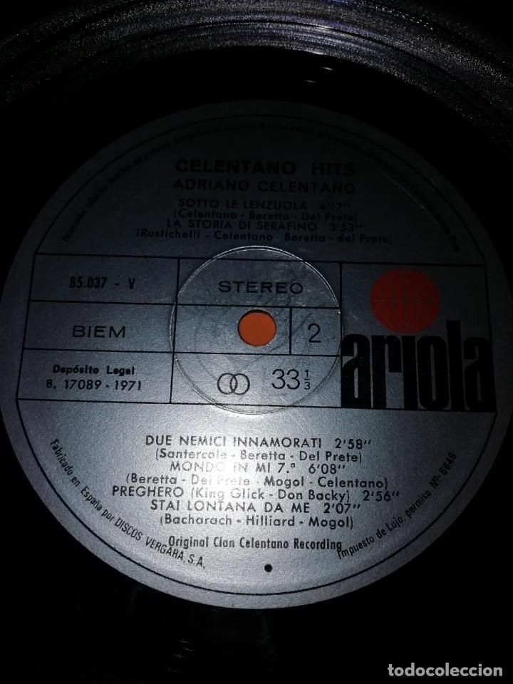 Discos de vinilo: ADRIANO CELENTANO. CELENTANO HITS. ARIOLA 1971. - Foto 6 - 197659740