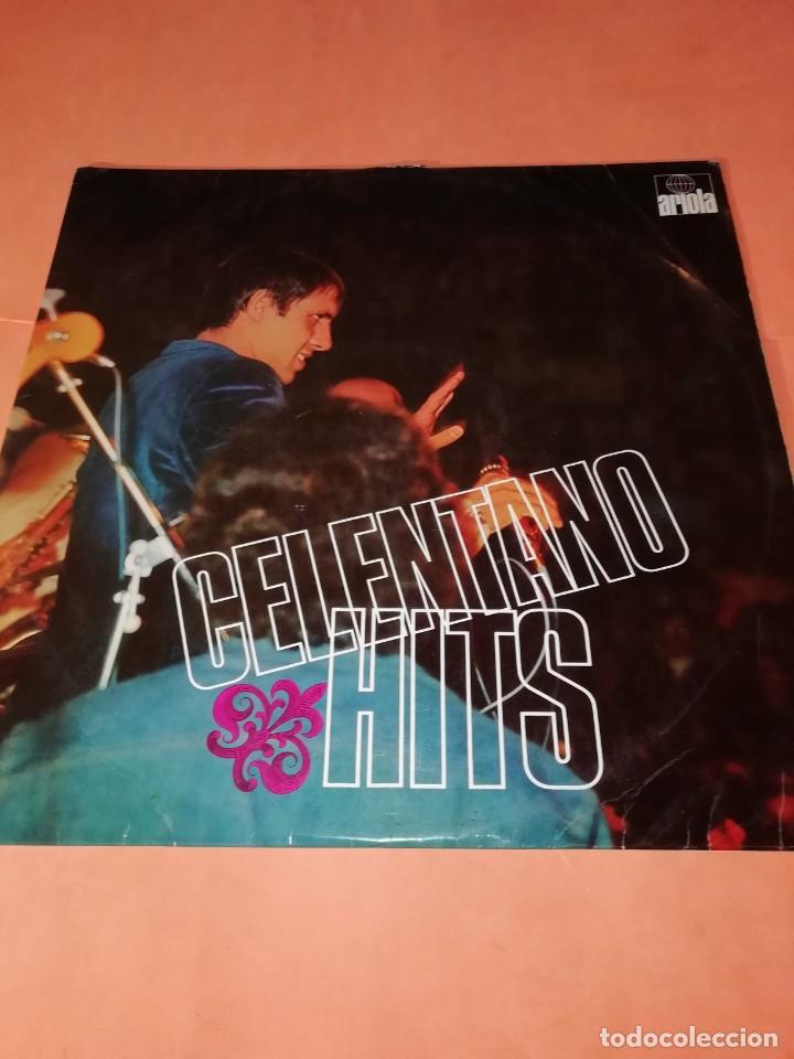 ADRIANO CELENTANO. CELENTANO HITS. ARIOLA 1971. (Música - Discos - LP Vinilo - Canción Francesa e Italiana)