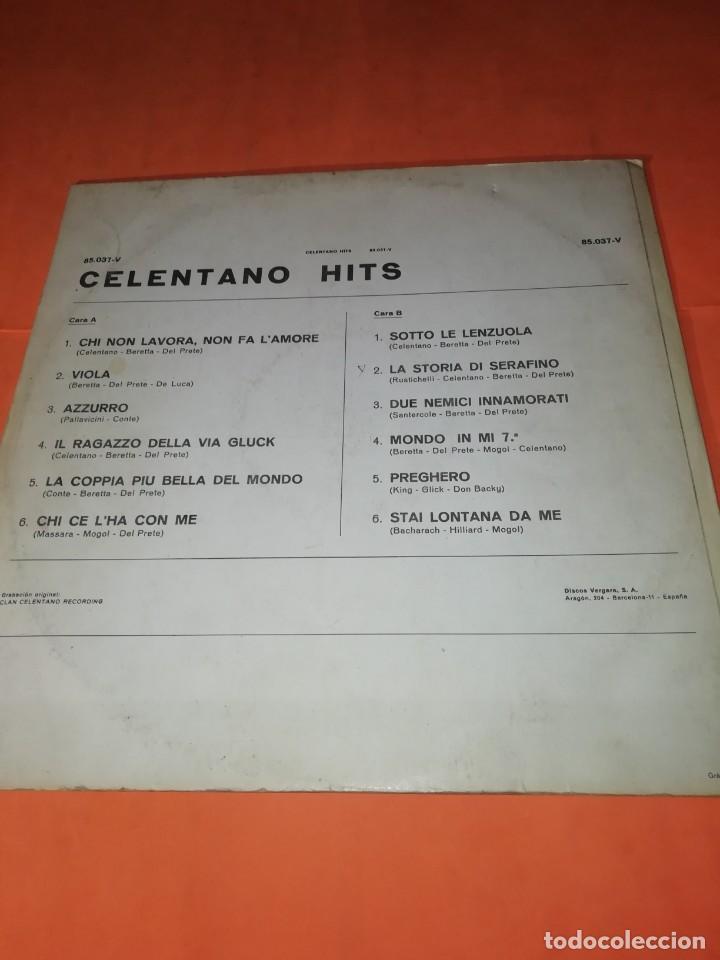 Discos de vinilo: ADRIANO CELENTANO. CELENTANO HITS. ARIOLA 1971. - Foto 2 - 197659740