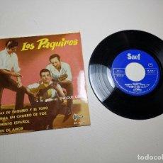 Discos de vinilo: LOS PAQUIROS / COPLAS DE PAQUIRO Y EL TORO + 3 (EP 1961). Lote 197662152