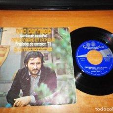 Discos de vinilo: PINO DONAGGIO PERO ANOCHE EN LA PLAYA CANTA EN ESPAÑOL CANCION 71 SINGLE VINILO ESPAÑA 1971 2 TEMAS. Lote 197674528