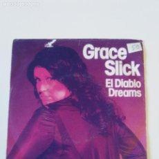 Discos de vinilo: GRACE SLICK EL DIABLO / DREAMS ( 1980 RCA GERMANY ) JEFFERSON AIRPLANE STARSHIP. Lote 197676627