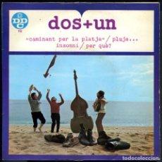Discos de vinilo: DOS+UN - CAMINANT PER LA PLATJA - JORDI CLUA - JOSEP Mª CLUA - MANEL JOSEP - DDC. Lote 197687995