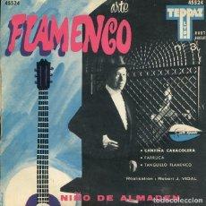 Discos de vinilo: JACINTO ALMADEN (NIÑO DE ALMADEN) ARTE FLAMENCO Nº 3 (EP FRANCES). Lote 197699633