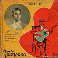 Discos de vinilo: JOSELITO II / CON VALENTIA SE ESCAPA + 3 (EP 1958). Lote 207115876