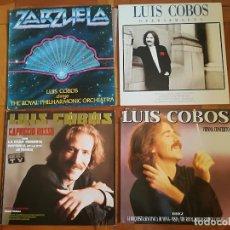 Discos de vinilo: LOTE 4 VINILOS DE LUIS COBOS - EN BUEN ESTADO. Lote 197722475