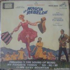 Discos de vinil: BANDA SONORA DE LA PELÍCULA LA NOVICIA REBELDE EP SELLO RCA VÍCTOR EDITADO EN MÉXICO. Lote 197731633