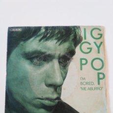 Discos de vinilo: IGGY POP I'M BORED / AFRICAN MAN ( 1979 ARISTA ESPAÑA ) STOOGES. Lote 197748817