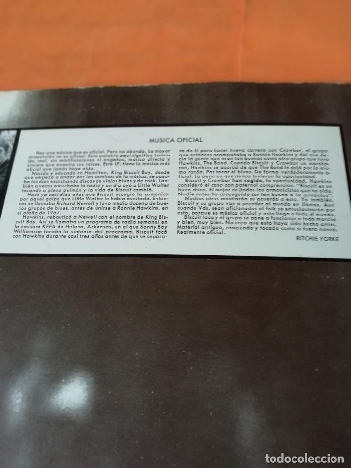 Discos de vinilo: OFFICIAL MUSIC KING BISCUIT BOY . WITH CROWBAR. HISPAVOX RECORDS 1971. - Foto 5 - 197749447