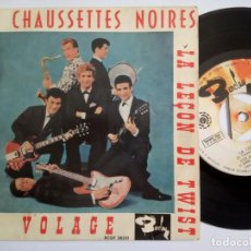 Discos de vinilo: LES CHAUSSETTES NOIRES - PEPPERMINT TWIST - EP ESPAÑOL 1961 - BARCLAY. Lote 197753765