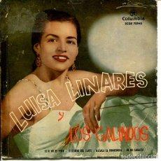 Discos de vinilo: LUISA LINARES Y LOS GALINDOS / ESTO NO ES VIVIR + 3 (EP 1959). Lote 197755143