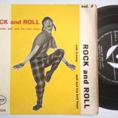 Discos de vinilo: FREDDY BELL & HIS BELL BOYS - ROCK AND ROLL - EP ITALIANO - MERCURY. Lote 197757028