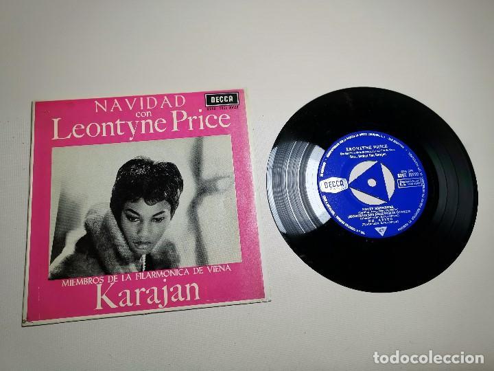 Discos de vinilo: LEONTYNE PRICE - NAVIDAD CON - KARAJAN - EP DECCA 1963 - Foto 4 - 197759357