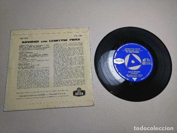 Discos de vinilo: LEONTYNE PRICE - NAVIDAD CON - KARAJAN - EP DECCA 1963 - Foto 7 - 197759357